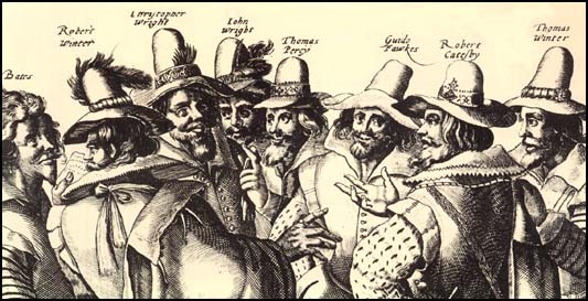 Conspirators in the Gunpowder Plot: November 5, 1605